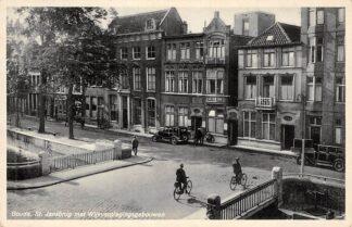 Ansichtkaart Gouda Westhaven St. Jansbrug met Wijkverplegingsgebouwen Ziekenhuis De Wijk 1936 HC17062