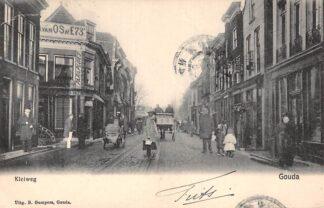 Ansichtkaart Gouda Kleiweg hoek Kleiwegstraat 1905 Gompers HC17093
