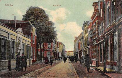 Ansichtkaart Gouda Kleiweg hoek Nieuwsteeg Oude Vrouwenhuis HC17095