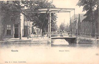 Ansichtkaart Gouda Nieuwehaven hoek Lage Gouwe HC17098