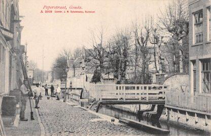 Ansichtkaart Gouda Peperstraat HC17103
