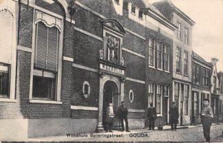 Ansichtkaart Gouda Spieringstraat Weeshuis Gompers HC17107