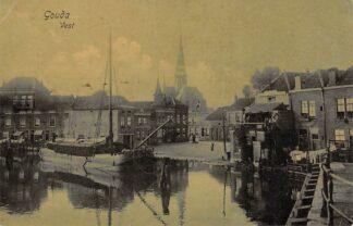 Ansichtkaart Gouda Bogen Vest Turfsingel 1908 Binnenvaart schepen HC17126
