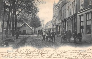 Ansichtkaart Gouda Veerstal Hondenkar 1902 Vivat 2749 Kleinrondstempel Warfum HC17134