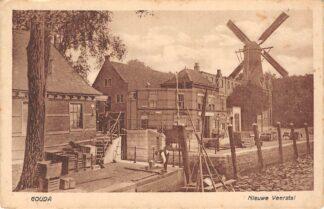 Ansichtkaart Gouda Hollandsche IJssel Nieuwe Veerstal Tolhuis Ingang Havensluis Molen Het Slot HC17137