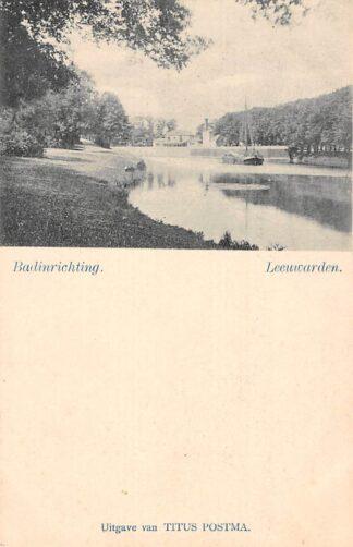 Ansichtkaart Leeuwarden Badinrichting Binnenvaart sc hepen HC17183