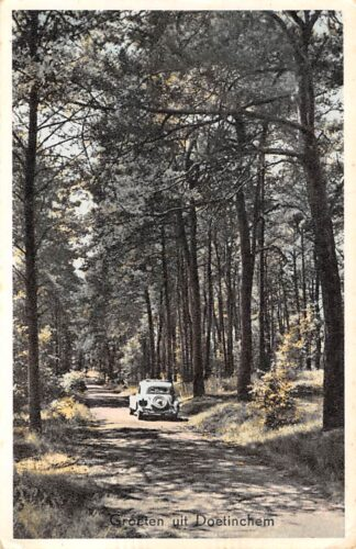 Ansichtkaart Doetinchem Groeten uit 1954 met auto Bosserie Nr. 1-6 HC17185