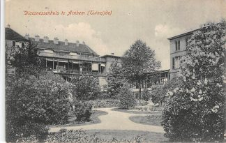 Ansichtkaart Arnhem Diaconessenhuis Tuinzijde Ziekenhuis 1913 HC17193
