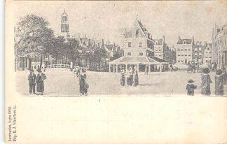 Ansichtkaart Leeuwarden begin 1800 Ansichtkaart uit 1900 HC17202