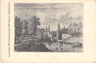 Ansichtkaart Leeuwarden begin 1800 Wirdumerpoort Ansichtkaart uit 1900 HC17203