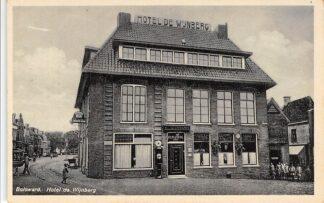Ansichtkaart Bolsward Marktplein 5 Hotel Cafe Restaurant De Wijnberg Reclame HC17215