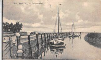Ansichtkaart Willemstad Buitenhaven Binnenvaart schepen Scheepvaart 1928 HC17219