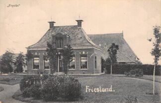 Ansichtkaart Friesland Fryslan Boerderij 1918 Uitg. T. v K. Leeuwarden In 1918 vanuit Bolsward verzonden HC17220