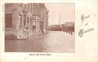 Ansichtkaart Maassluis Haven bij hoog water begin 1900 HC17265