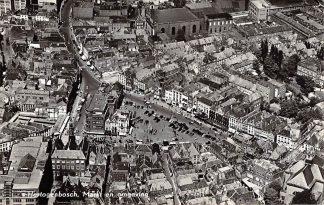 Ansichtkaart 's-Hertogenbosch Markt en omgeving 1954 KLM Luchtfoto no. 17930 HC17288