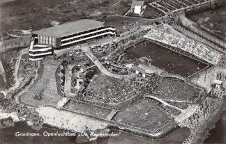 Ansichtkaart Groningen Openluchtbad De Papiermolen 1958 KLM Luchtfoto no. 450008 HC17289