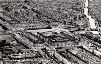 Ansichtkaart Amsterdam -W. Middelpunt Surinameplein 1956 KLM Luchtfoto no. 30749 HC17295