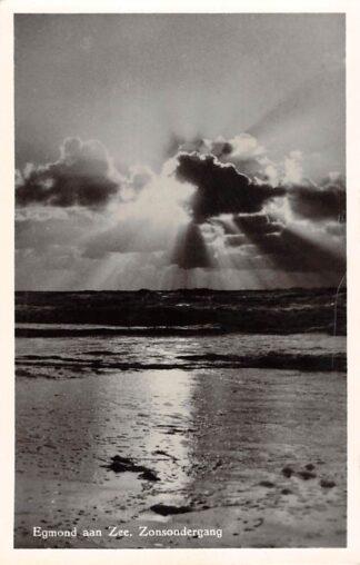 Ansichtkaart Egmond aan Zee Zonsondergang 1955 HC17324