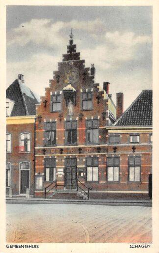 Ansichtkaart Schagen Gemeentehuis 1948 HC17326