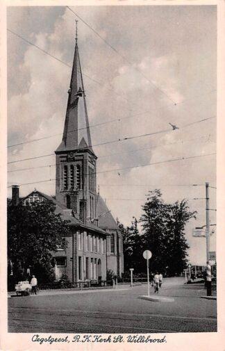 Ansichtkaart Oegstgeest R.K. kerk St. Willibrord 1942 HC17340