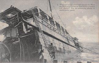 Ansichtkaart Hoek van Holland Wrak van het op 21 Febr. 1907 gestrande en door midden gebroken S.S. Berlin  HC17367