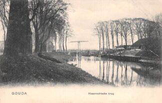 Ansichtkaart Gouda Hollandsche IJssel Haastrechtsche Brug rechts Stolwijkersluis HC17405
