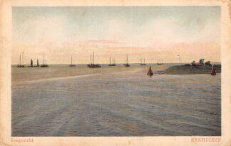 Ansichtkaart Enkhuizen Zeegezicht met vissers schepen 1928 HC17423