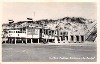 Ansichtkaart Ouddorp aan Zee Paviljoen-Restaurant De Zeester op het strand HC17453