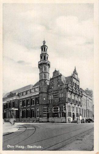 Ansichtkaart Den Haag Stadhuis 1938 HC17467