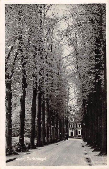 Ansichtkaart Assen Zuidersingel 1947 HC17470