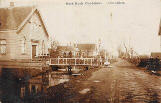 Ansichtkaart Leimuiden Fotokaart Gereformeerde Kerk Oosteinde 1912 HC17498