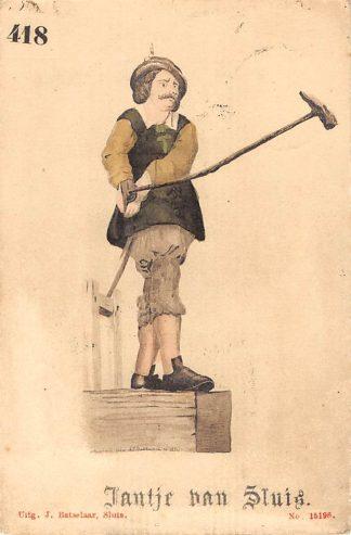 Ansichtkaart Sluis (ZL) Jantje van Sluis 1906 Zeeuws-Vlaanderen HC17515