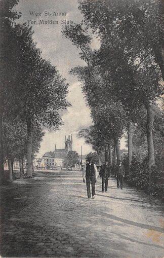 Ansichtkaart Sluis (ZL) Weg St. Anna ter Muiden Zeeuws-Vlaanderen HC17520