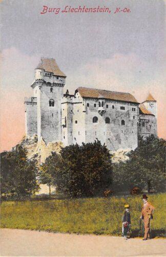 Ansichtkaart Zwitserland Burg Liechtenstein N.-Oe. 1920 Schweiz Suisse Switzerland Europa HC17523