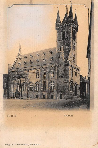 Ansichtkaart Sluis (ZL) Stadhuis Zeeuws-Vlaanderen HC17525