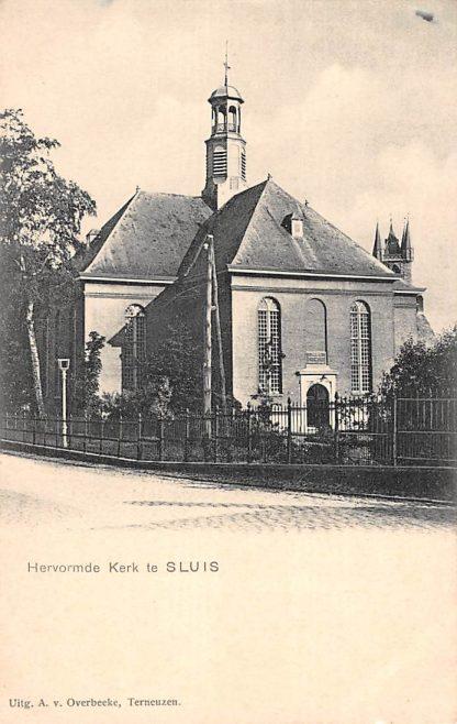 Ansichtkaart Sluis Hervormde Kerk Zeeuws-Vlaanderen HC17535