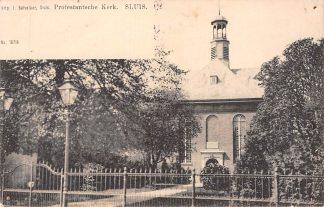 Ansichtkaart Sluis (ZL) Protestantsche Kerk Zeeuws-Vlaanderen HC17543