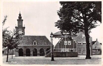 Ansichtkaart Sluis (ZL) Markt 1952 Zeeuws-Vlaanderen HC17547