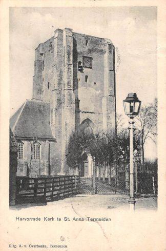 Ansichtkaart Sluis (ZL) Hervormde Kerk te st. Anna Termuiden 1902 HC17552