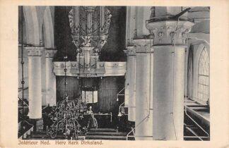 Ansichtkaart Dirksland Interieur Ned. Hervormde Kerk met orgel 1919 Goeree-Overflakkee HC17554