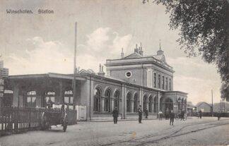 Ansichtkaart Winschoten Station 1929 Spoorwegen HC17593