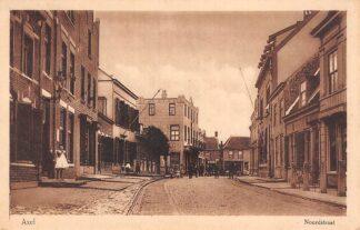 Ansichtkaart Axel Noordstraat 1928 Zeeuws-Vlaanderen HC17604
