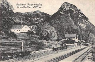 Ansichtkaart Zwitserland Gesause Gstatterboden Station Spoorwegen Schweiz Suisse Switzerland Europa HC17628