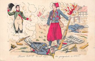 Ansichtkaart Frankrijk WO-1 1914-1918 Militair Humor Napoleon France Europa HC17630