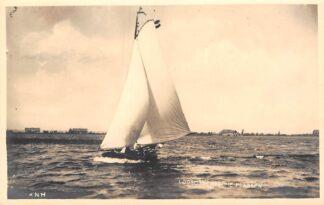 Ansichtkaart Loosdrecht Fotokaart zeilschip op de Loosdrechtsche Plassen KNH HC17631