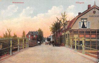 Ansichtkaart Hillegom Wilhelminalaan met Cafe Parkzicht 1913 HC17643