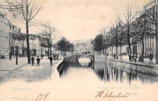 Ansichtkaart Leeuwarden Nieuwestad vanaf de Lange Pijp 1902 Vivat No. 739 HC17649