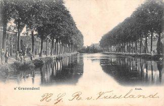 Ansichtkaart 's-Gravendeel Kreek 1905 Hoeksche Waard HC17651