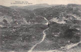 Ansichtkaart Bergen (NH) aan Zee De Meeuwenlekken in de Duinen 1925 HC17655