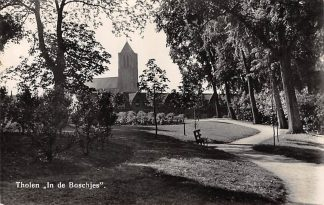 Ansichtkaart Tholen In de Boschjes Newo fotokaart 1940 HC17664